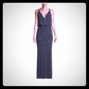 Vince Camino V-Neck Knit Gown, Size 6, Black